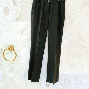 ETRO 38 Pants/Slacks/Trouser Olive Green WoolBlend